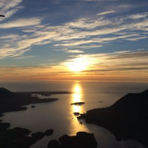 air nootka sunset view