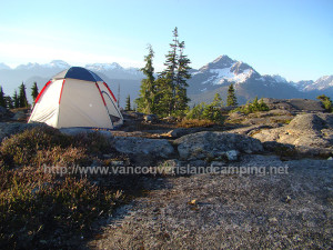 tenting on top of Crest Mountain