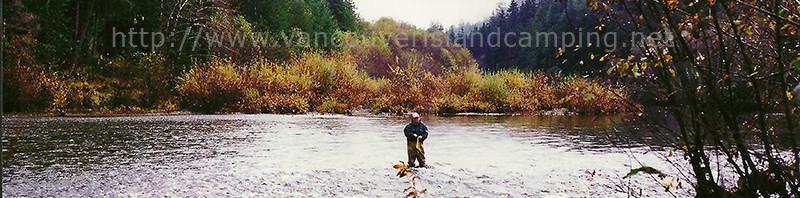 Fiishing for steelhead on the conuma river
