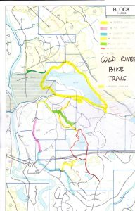 map of mountain bike trails in Gold River