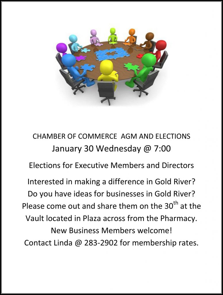 gold river chamber of commerce AGm