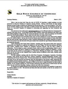 gold river chamber of commerce presidents letter to members for 2021